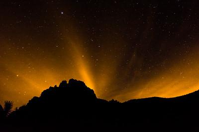 Night Glow in the Night Sky in Joshua Tree N P