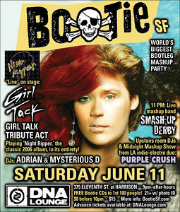 Bootie SF – June 11, 2011: Girl Tack tribute act, Purple Crush, Smash-Up Derby ii of ii