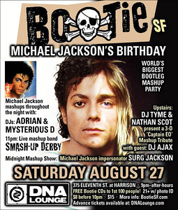 Bootie SF Michael Jackson Birthday Party 1 of 2