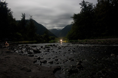 Waipio River at night