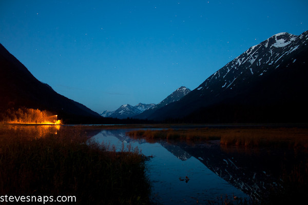 Tern Lake on the Kenai Peninsula is at Mile 37 of the Seward Highway where the Seward and Sterling Highways meet