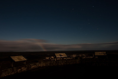 Moonbow at the Kilauea volcano observatory
