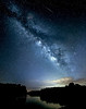 Milky Way and Meteor