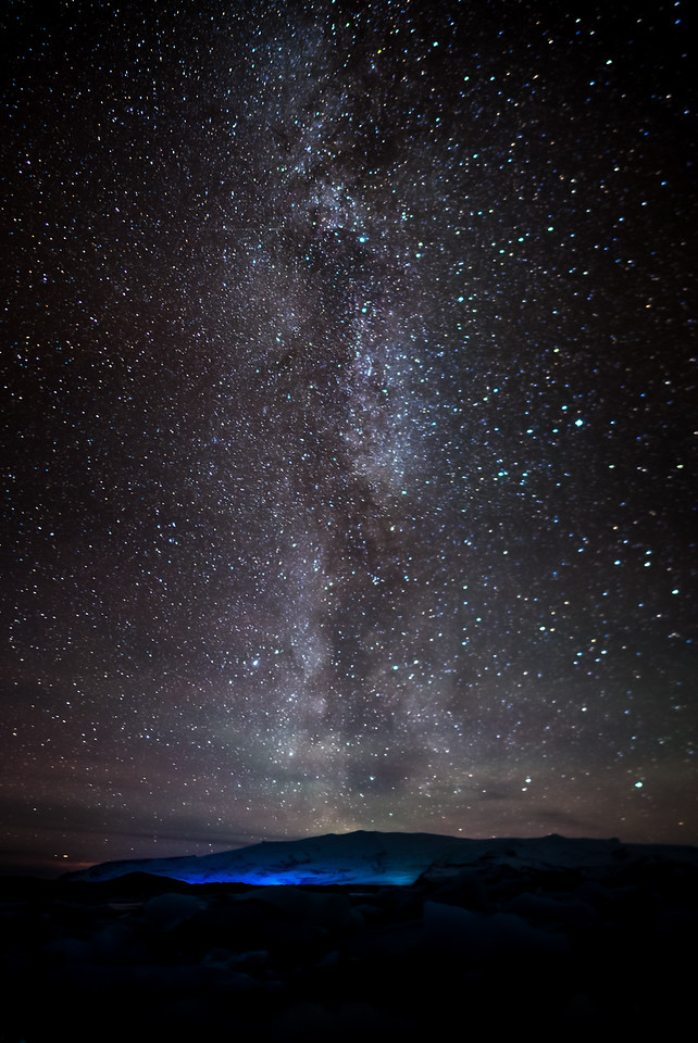 Milky Way at Jökulsárlón Glacier Lagoon