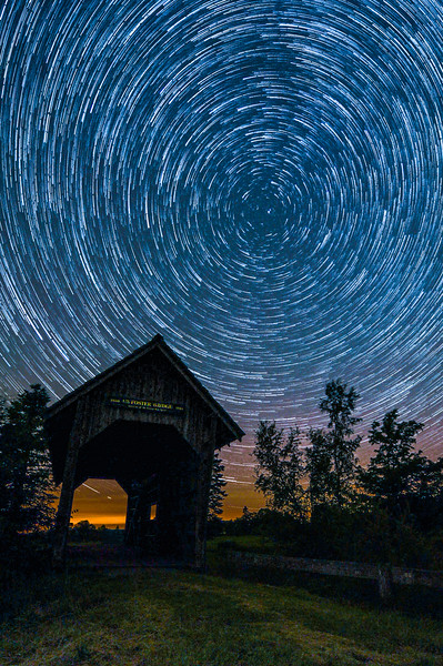Star Trails over Foster Bridge