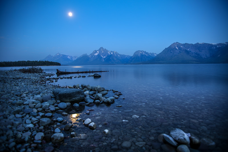 Blue Hour at Jackson Lake, Grand Tetons