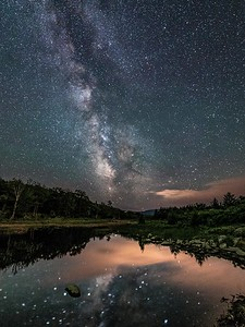 Midnight at Beaver Pond