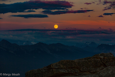 Canadian Rockies - Moonrise