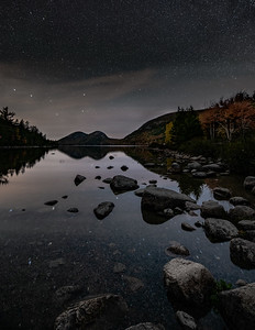 Jordan Pond with the Big Dipper