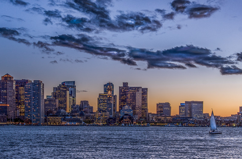 Boston Skyline & the sailboat