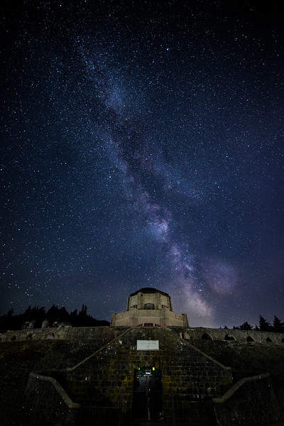 Vista House under the stars