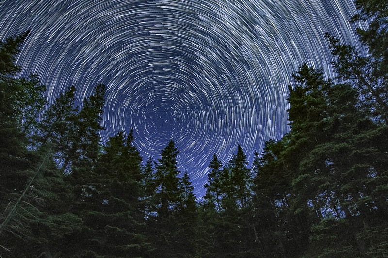 Star Trails at Little Hunter's Beach - Acadia