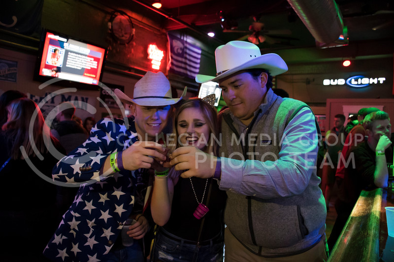 Students keep the night interesting while they party at House Party located in Johnny Kaws in Manhattan, KS, on Nov. 3, 2017. (Olivia Bergmeier | Collegian Media Group)