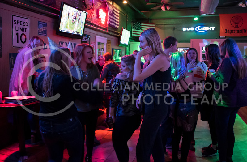 Students party at House Party located in Johnny Kaws in Manhattan, KS, on Nov. 3, 2017. (Olivia Bergmeier | Collegian Media Group)