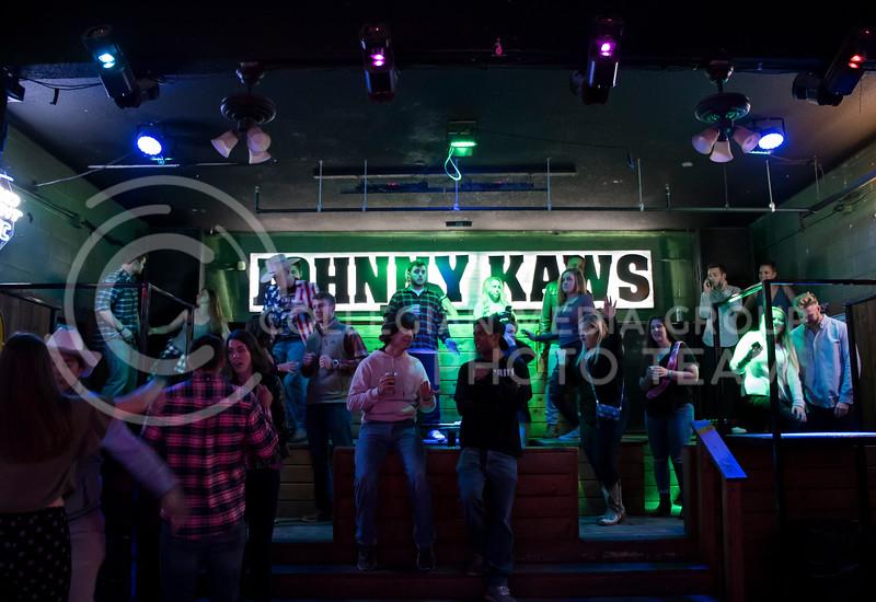Students party at House Party located in Johny Kaws in Manhattan, KS, on Nov. 3, 2017. (Olivia Bergmeier | Collegian Media Group)