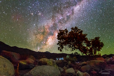 """The rise of """"center"""" of the Milky Way on the Antakari route"""