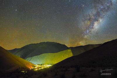 Light Pollution over Pisco Elqui
