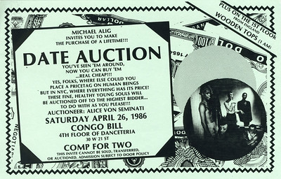 Michael Alig's Date Auction at Danceteria, NYC, 1986 - Invite Side 2