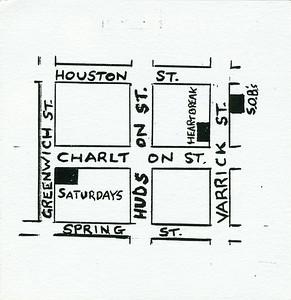 Saturdays & Fridays, NYC, 1986 - Card Side 2