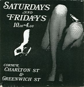 Saturdays & Fridays, NYC, 1986 - Card Side 1