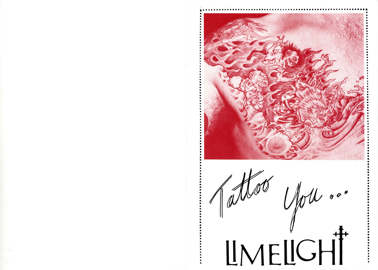 St. Valentine's Bleeding Heart Tattoo Spectacular at Limelight, NYC, 1987 - Invite Pgs 1 & 4