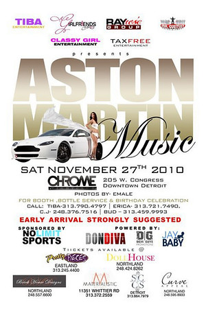 ASTON MARTIN MUSIC NOV 27, 2010