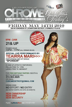 CHROME 1ST CLASS FRIDAYS  TEAIRRA MARI MAY 14, 10