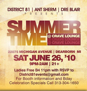 SUMMER TIME AT CRAVE 6-26-10