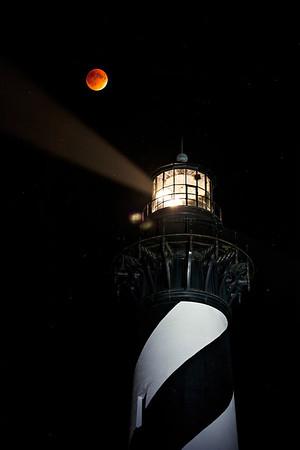 Blood Moon at Hatteras