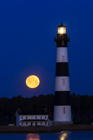 Twilight Moon at Bodie Island