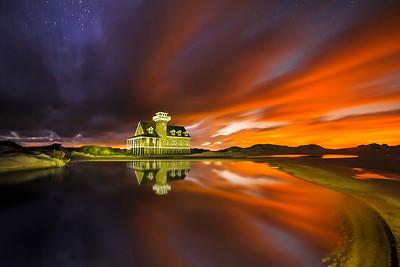 Tidal Pool At Twilight