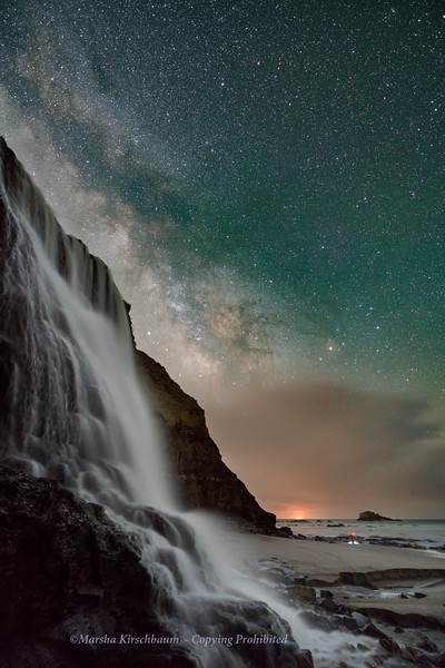 Star Fall  over Alamere Falls