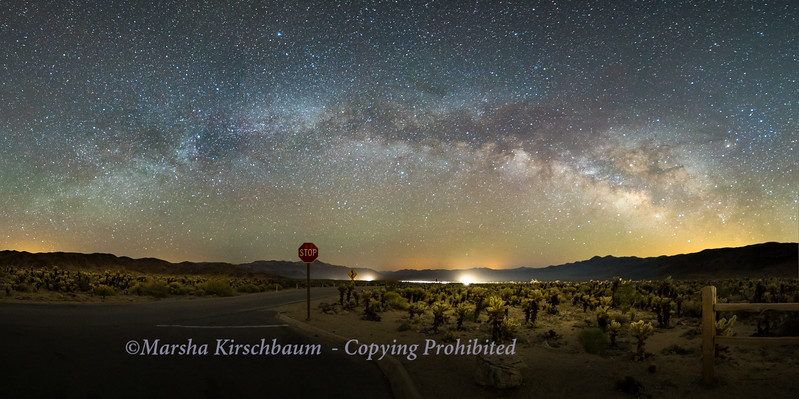 Stop!  Milky Way - Joshua Tree National Park Panorama