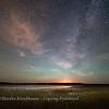 Moonset - Abbotts Lagoon