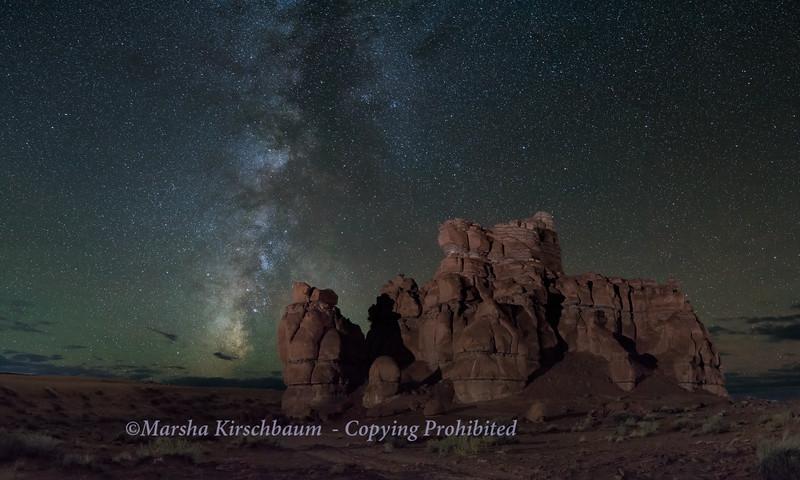 Milky Way over Entrada Formation - Goblin Valley State Park