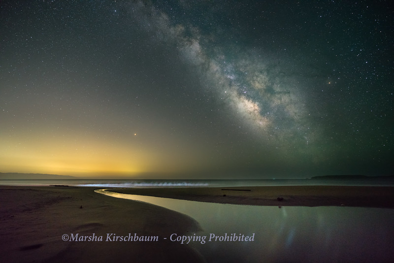 Mars Beneath the Milky Way-Drakes Beach