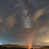 Celestial Tornado - Milky Way and Clouds