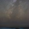 Blue Waves beneath a Starry Sky