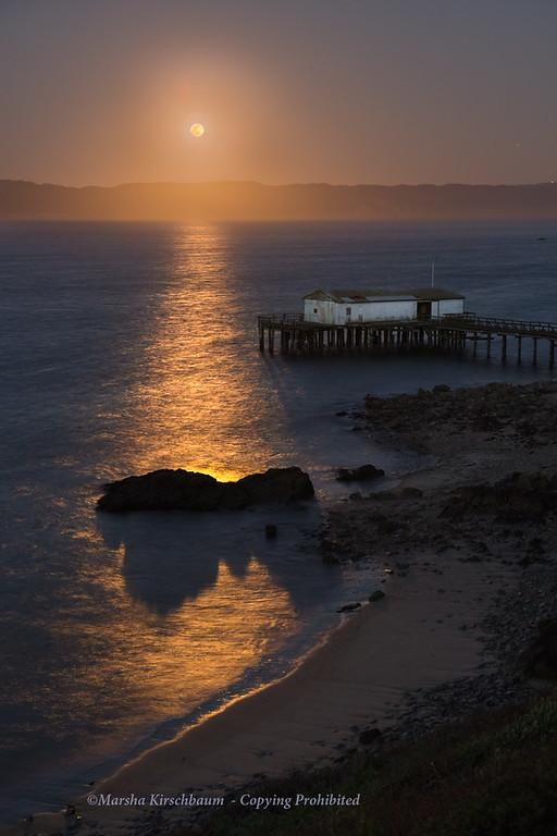 Moonrise at Drakes Bay, Point  Reyes