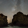Between the Crack - Pfeiffer Beach Milky Way
