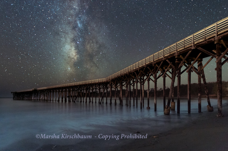 Airglow at Hearst Pier - San  Simeon State Park