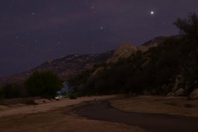 Stars at the trailhead