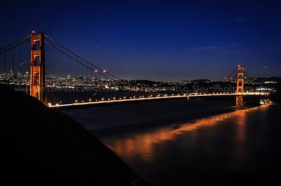 Golden Gate bridge from Marin