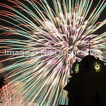 Fireworks over Lawrenceville, GA Courthouse :