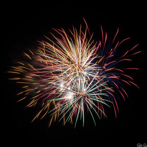 Square multicolor fireworks