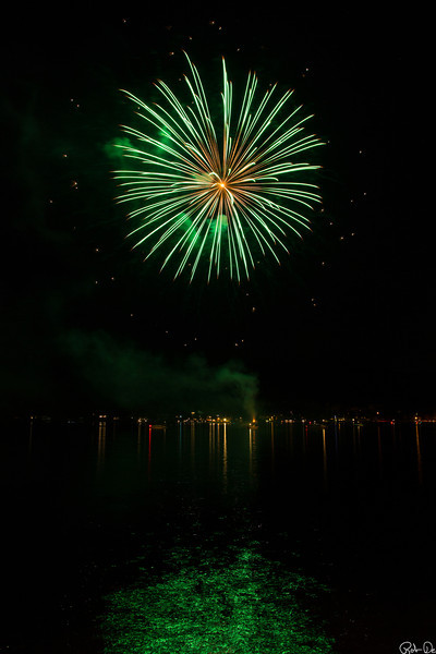 Fireworks At Lake George