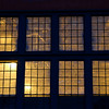 Lit windows on Mare Island