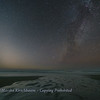 Zodiacal Light and Winter Milky Way