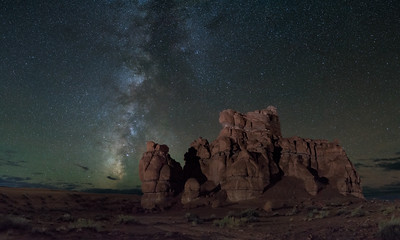 Milky Way over Entrada Formation - Goblin Valley State Park
