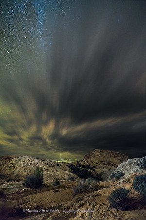 Desert Night Storm Clouds